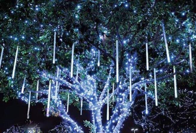 Метеорный поток светодиодные фонари Метеор лампа метеорный поток света RGB LED города led light bar IP68 50 см