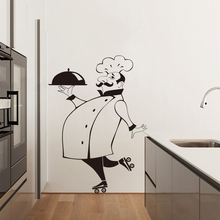Funny Chef Wall Stickers for Kitchen Tile Glass Walls Waterproof Vinyl Sticker Home Decor Decals House Decoration LW21