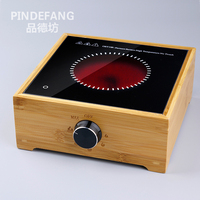 High Quality Bamboo Electric Radiant cooker Teapot Heater with Plug Adaptor Suitable for Worldwide Health Tea Kettle Wamer
