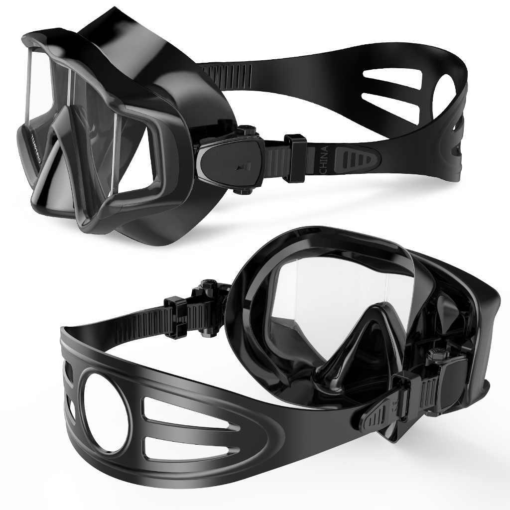Nieuwe Professionele Duikbril Scuba Snorkel Zwembril Blauw, Zwart, Wit, rood voor Mannen Vrouwen Anti-fog Duikbril