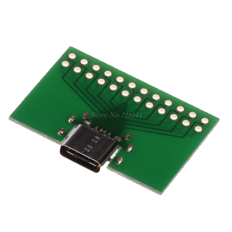 PC Board Type C Female Test Plug Socket Connector USB 3.1 Adapter SMT Type