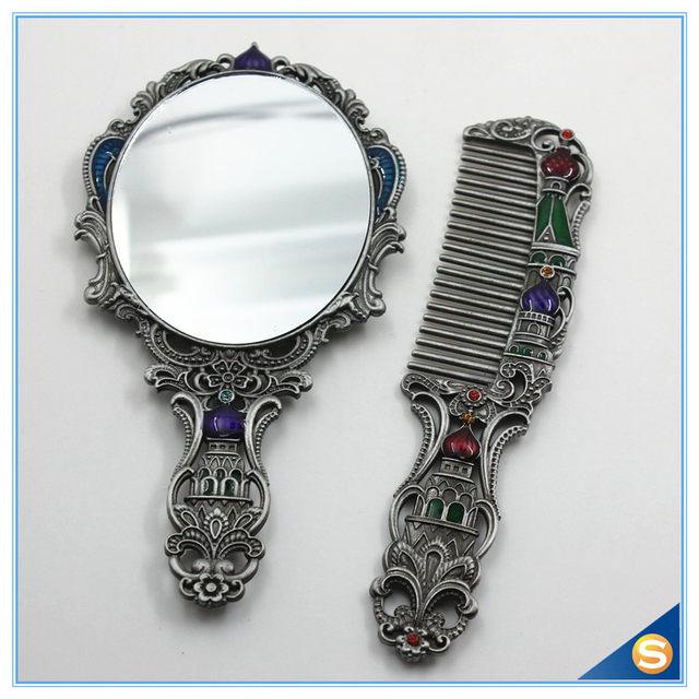 Tienda Online Metal antiguo esmalte espejo de mano conjunto con ...