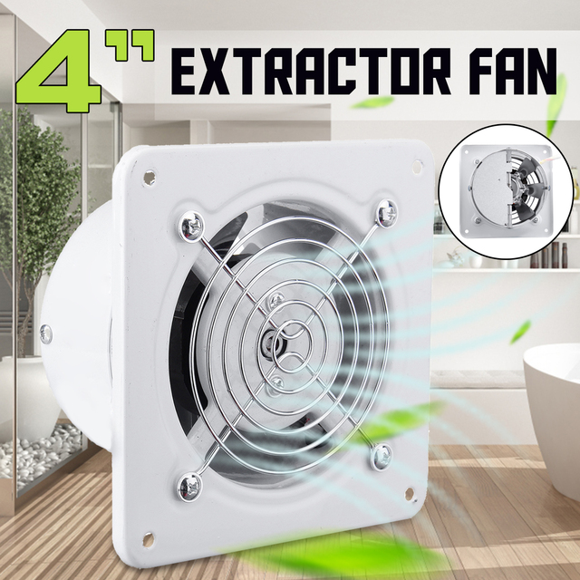 US $17.45 51% OFF|4 inch 25w Exhaust Fan 220V Window type Silent Wall  Extractor Ventilation Fan Window Bathroom Kitchen Toilet Air Vents  Exhaust-in ...