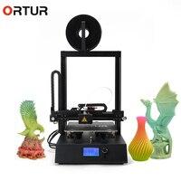 Ortur 4 Цельнометаллический корпус 3d принтер машина лучшие профессиональные 3d принтер с LCD12864 Impresora 3d 25 очков очаг Autoleveling