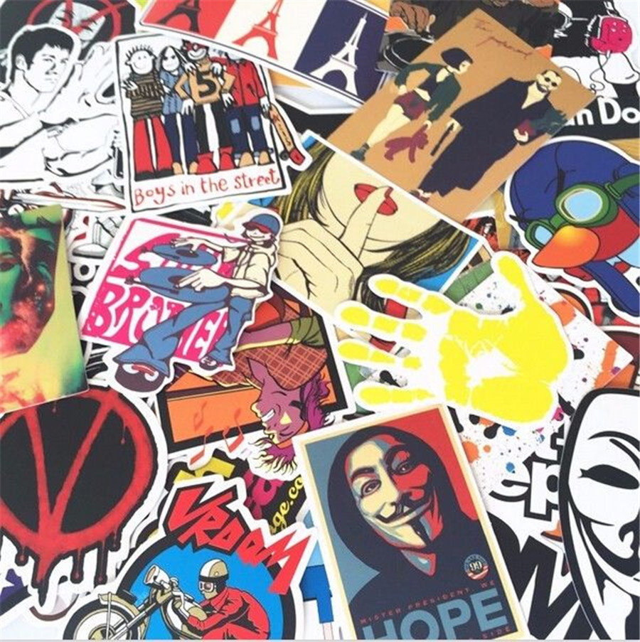 600pcs /lot Sticker Bomb Decal Vinyl Roll Car Skate Skateboard Laptop Luggage цена