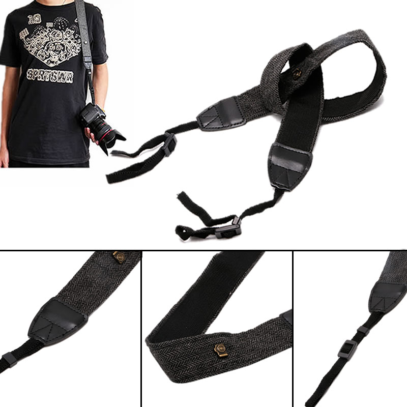 ALITER Camera Shoulder Neck Strap Leather Belt Fit For Canon SLR DSLR Digital Universal