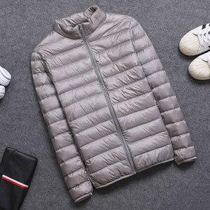 Image 5 - 2019 İlkbahar/Sonbahar Erkek Ince Ceketler Moda Hafif taşınabilir stant Yaka Artı Boyutu 5XL Erkek Ördek Aşağı Palto Tasfiye Satışı