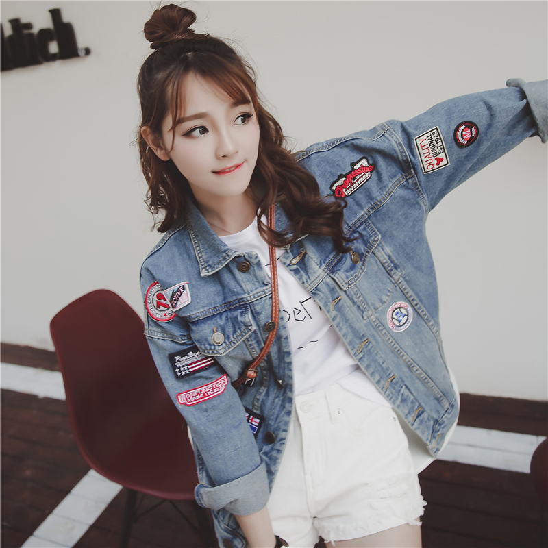 2018 brand new Spring Autumn  Hot sale Loose style fashion casual popular pure women denim Jacket  Cheap wholesale A220