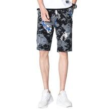 купить New Summer Mens Prints Shorts Casual Drawstring Breathable Straight Cargo Shorts Camo Comfortable Sport Male Homme Elastic short дешево