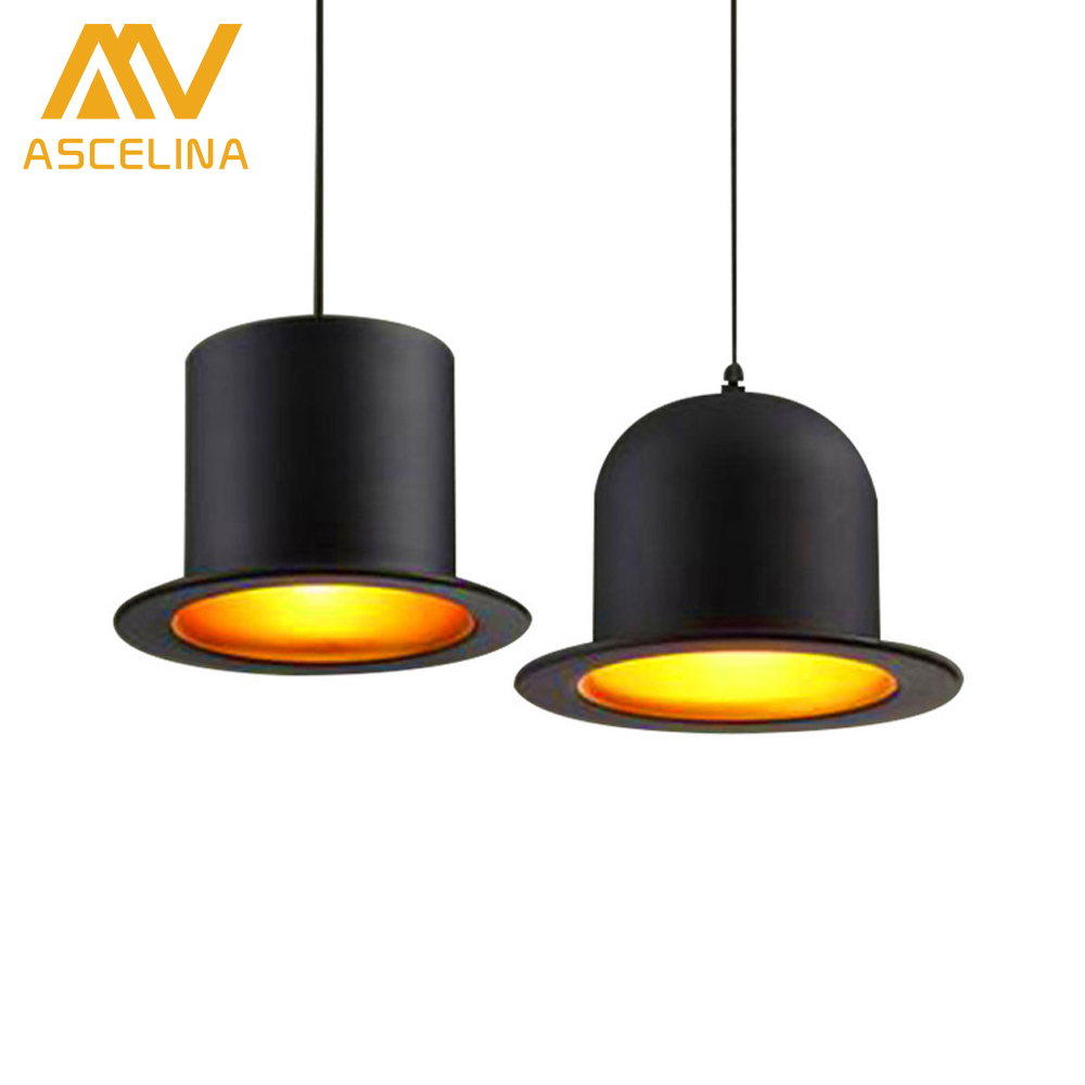 ASCELINA LED Pendant Light Modern Style lamp Jeeves Wooster Top Hat Dome cap LED lamp Decorative art pendant lamp Home Lighting hand made wool felt hat aluminum suspension lamp cap jeeves and wooster pendant light hanging lighting dinning hall couture