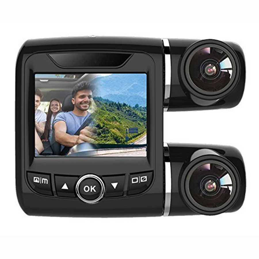 1080P Full HD Dual PTZ Car Camera with 2 inch TFT LCD Display with Dual Camera Recording Support and G-Sensor Accident Detection 1080p hd digital telescope camera with 2 inch tft lcd for photo snapshot and image video recording with max 32gb tf card memory