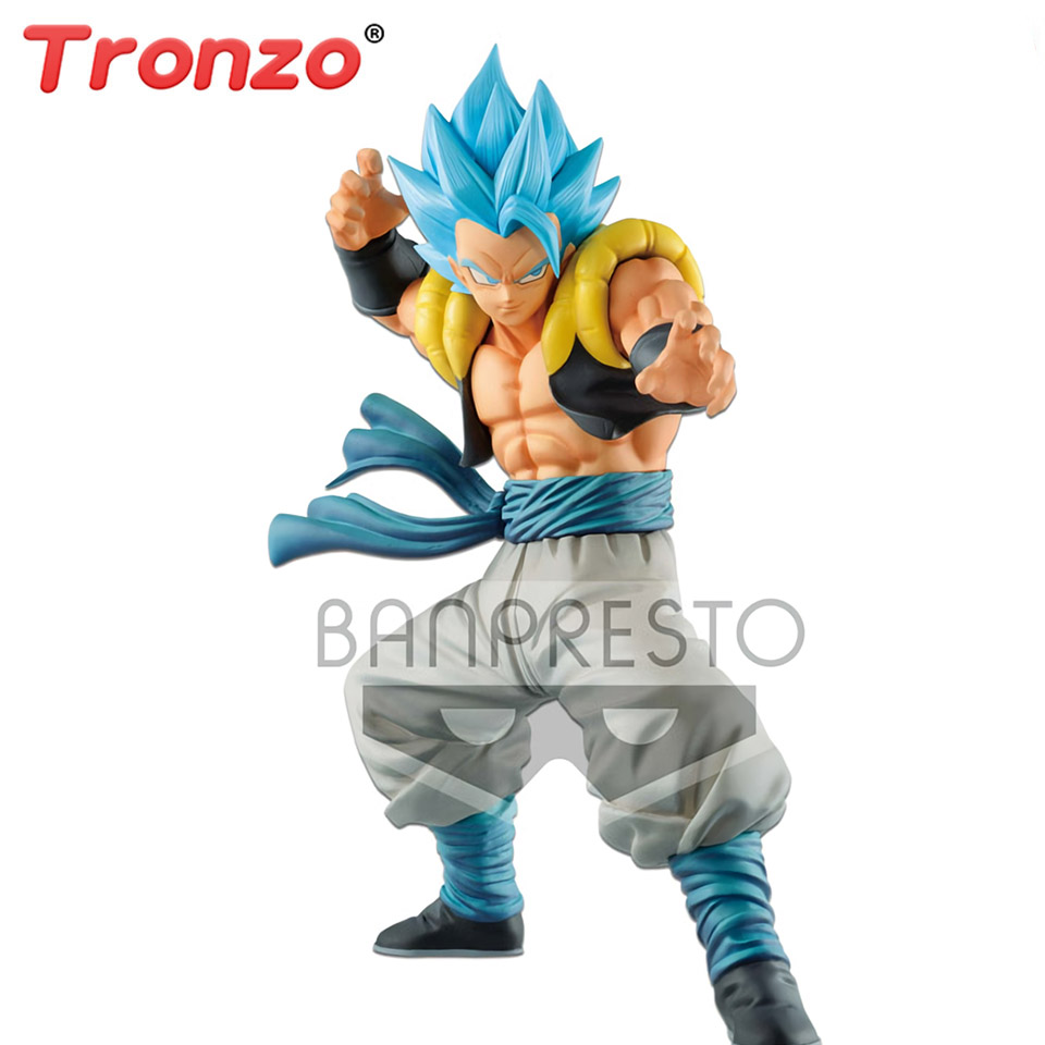 Tronzo Original Banpresto Action Figure Dragon Ball Super Saiyan Blue Gogeta PVC Action Models Dragon Ball