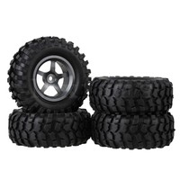 Mxfans 4 x RC 1:10 Rock Crawler Car Simulation Tire & Alloy 5 Spoke Wheel Rim