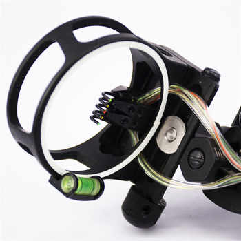 """New 5 Pins 0.19\"""" Archery Bow Sight With LED Adjust Detachable High Quality Bracket Sight Aid For Compound Archery Bow#294661"""