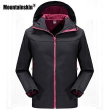 Mountainskin Для мужчин флис куртки Повседневное пальто с капюшоном Для мужчин Водонепроницаемый Softshell ветровка куртка теплая верхняя одежда бренд SA486