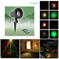 8 Patterns RG Christmas Outdoor Laser Lights Projector  Waterproof Snowflake Xmas Tree Garden Decoration Show Lighting