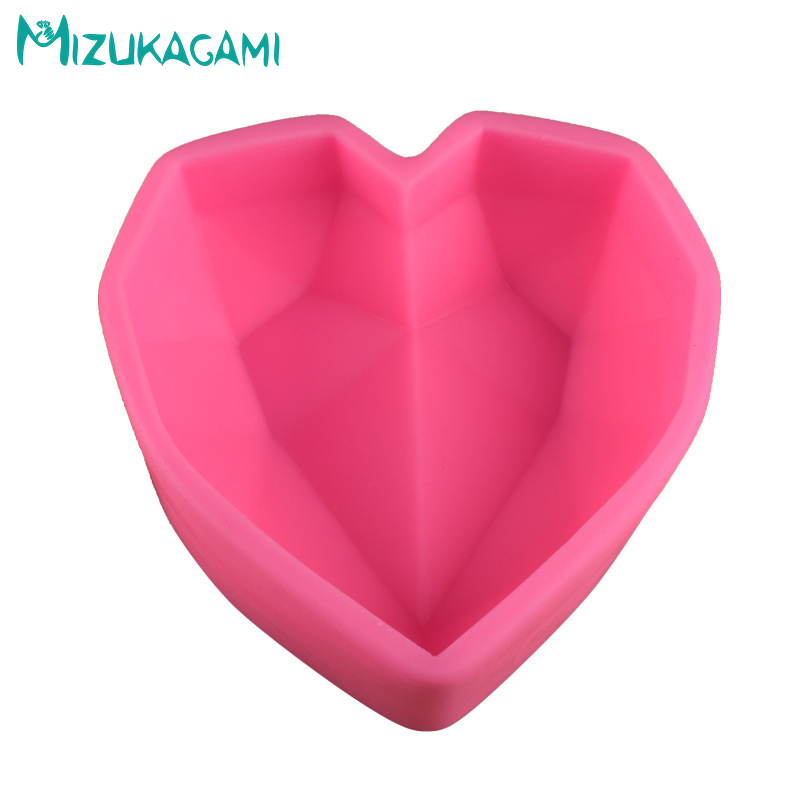 2PCS Silicone Mold Soap Mold Geometric Love Chocolate Silicone Fondant Cake Decorating Tools DIY Kitchen Baking Tools DJ 02104