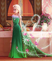 Nova Elsa vestido de renda verão 2016 Elsa anna vestido de princesa vestido de Elsa vestido para crianças fantasia vestido