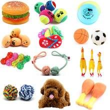Moda borracha guinchar brinquedos para o cão gritando frango mastigar osso chinelo squeaky bola brinquedos do cão mastigar dente de moagem treinamento brinquedo