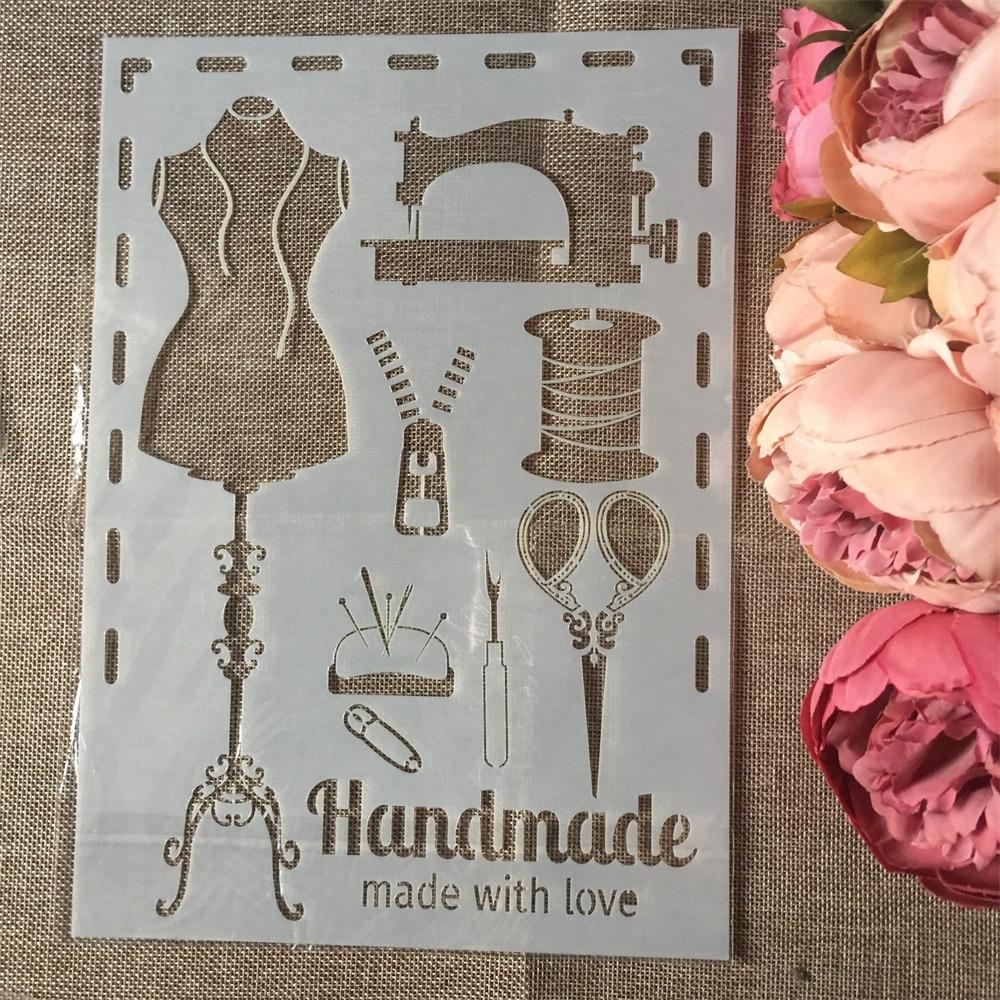 1Pcs A4 Sewing Tool Handmade DIY Layering Stencils Wall Painting Scrapbook Coloring Embossing Album Decorative Card Template