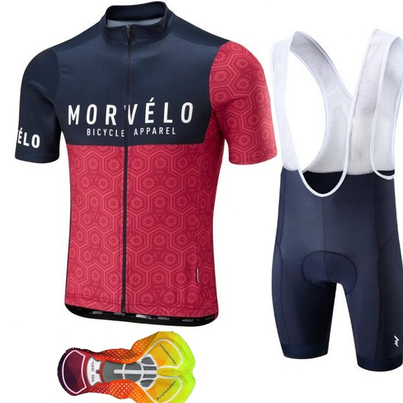 2019 cycling jersey Morvelo Pro team men short-sleeved mountain bike bicycle sportswear uniforms men's clothing