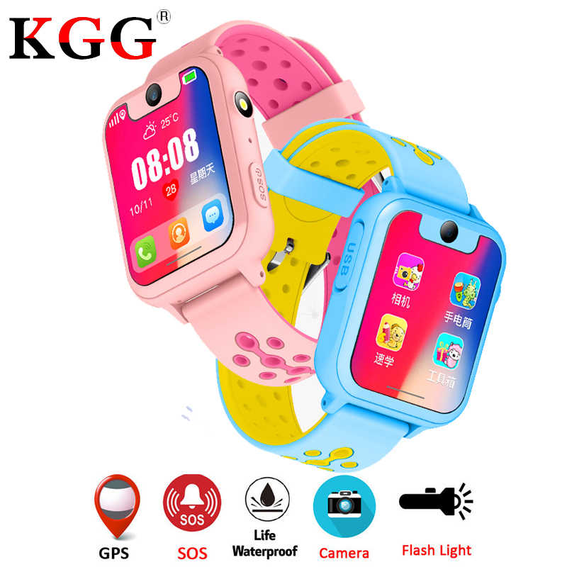 KG30 GPS LBS Kids Smart Watch Waterproof Camera Sim Card Children SOS Call Location Finder Locator Tracker Baby GPS Watch