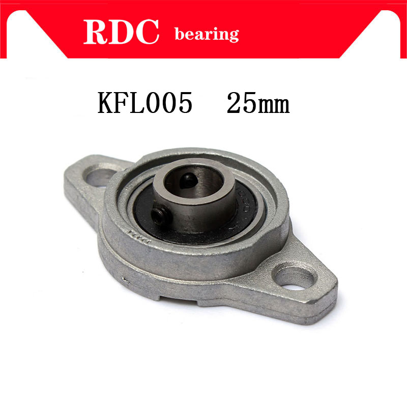 цены Free Shipping KFL005 Zinc Alloy 25mm High quality Pillow Block Bearing FL005 Flange Block Bearing