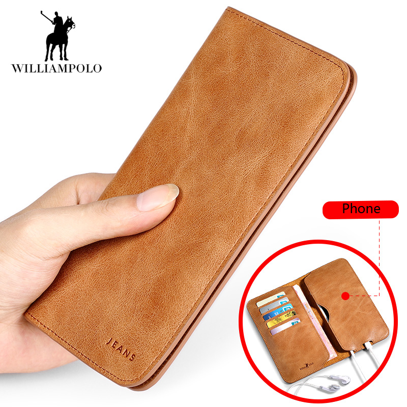 2018 NEW Hot Sale Vintage Wallet Brand Men Purse Genuine Leather Wallet Men Male Wallet Fashion Purse Coin Purse For iPhone 7S 2017 new wallet small coin purse short men wallets genuine leather men purse wallet brand purse vintage men leather wallet page 2