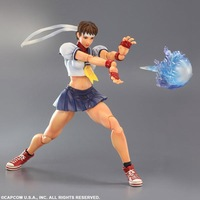 Play Arts Street Fighter Sakuru Figure PA Kai Toy Model 10 25cm