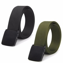 Fashion Hypoallergenic Metal Plastic Automatic Buckle Belt Wild Men Canvas Belt U102K