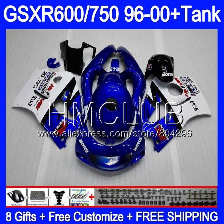 +Tank For SUZUKI GSXR 750 600 SRAD GSXR600 96 97 98 99 00 Blue white 1KT.1 GSX-R600 GSXR750 1996 1997 1998 1999 2000 Fairing kit+Tank For SUZUKI GSXR 750 600 SRAD GSXR600 96 97 98 99 00 Blue white 1KT.1 GSX-R600 GSXR750 1996 1997 1998 1999 2000 Fairing kit