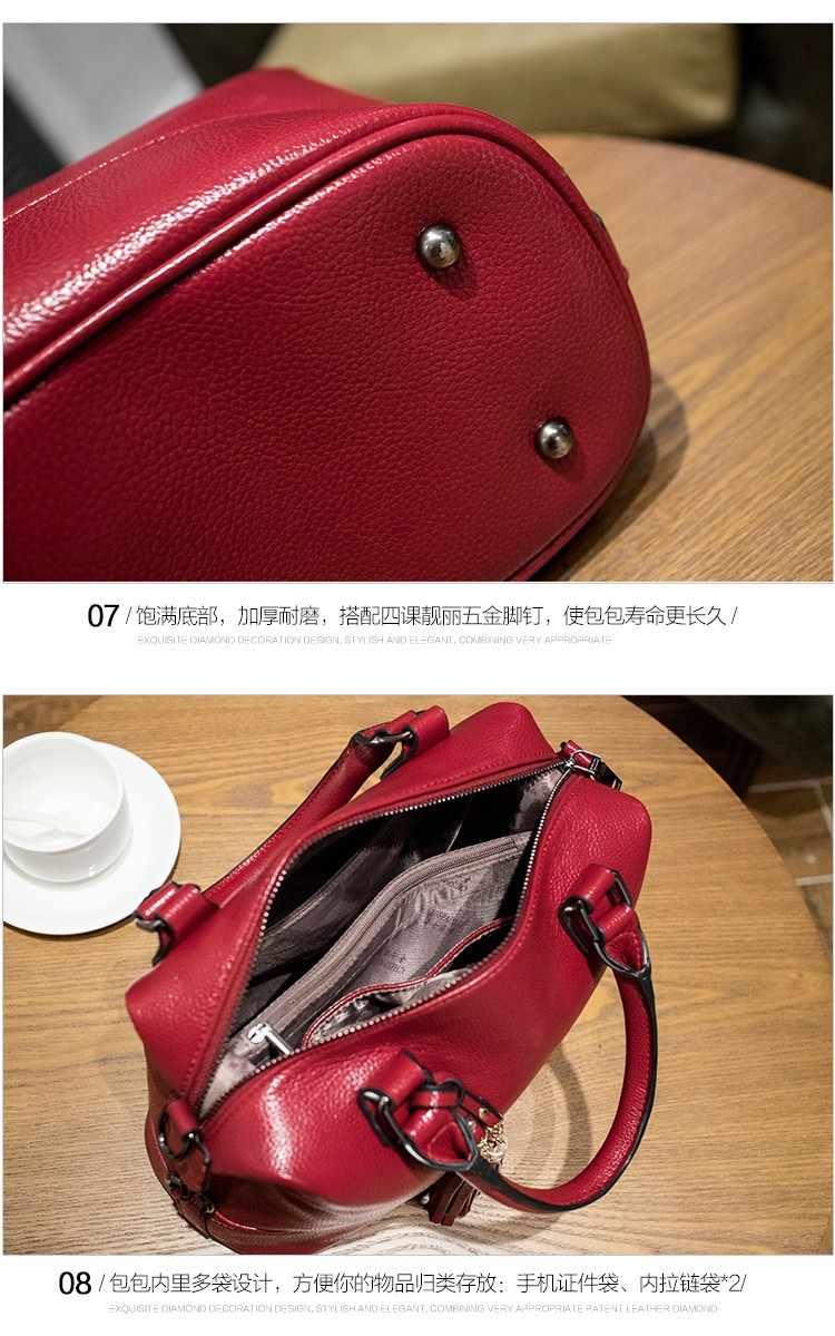 Mode Echt Lederen Tassen Voor Vrouwen 2018 Luxe Merk Handtassen Vrouwen Tassen Designer Messenger Kwastje Vrouwen Schoudertassen X43