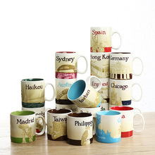 Creative Hot Sale City Mug Country  Collection Commemorative Coffee Cup Lovely Ceramic Spain London France Macau City Cups цена