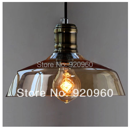 Nordic American Country Industrial Vintage Glass Pendant Light Single Head Balcony Modern Minimalist Restaurant Bar Lamp - DGY Indoor Lighting store