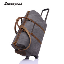 SOURCE POINT Men's Canvas Travel Bag Travel Duffle Weekend Bag Luggage For Men Male Trolley Bags Travel Bags YD-2309#
