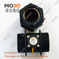 Free Shipping MJ HZ50WA 2 Inch Plastic Hall Flow Sensor Outside Treads Water Flow Switch Hall