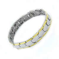 Top Sale 2016 Men 316L Stainless Steel Plated Magnetic Bracelet Bio Health Healing Classic Link Chain