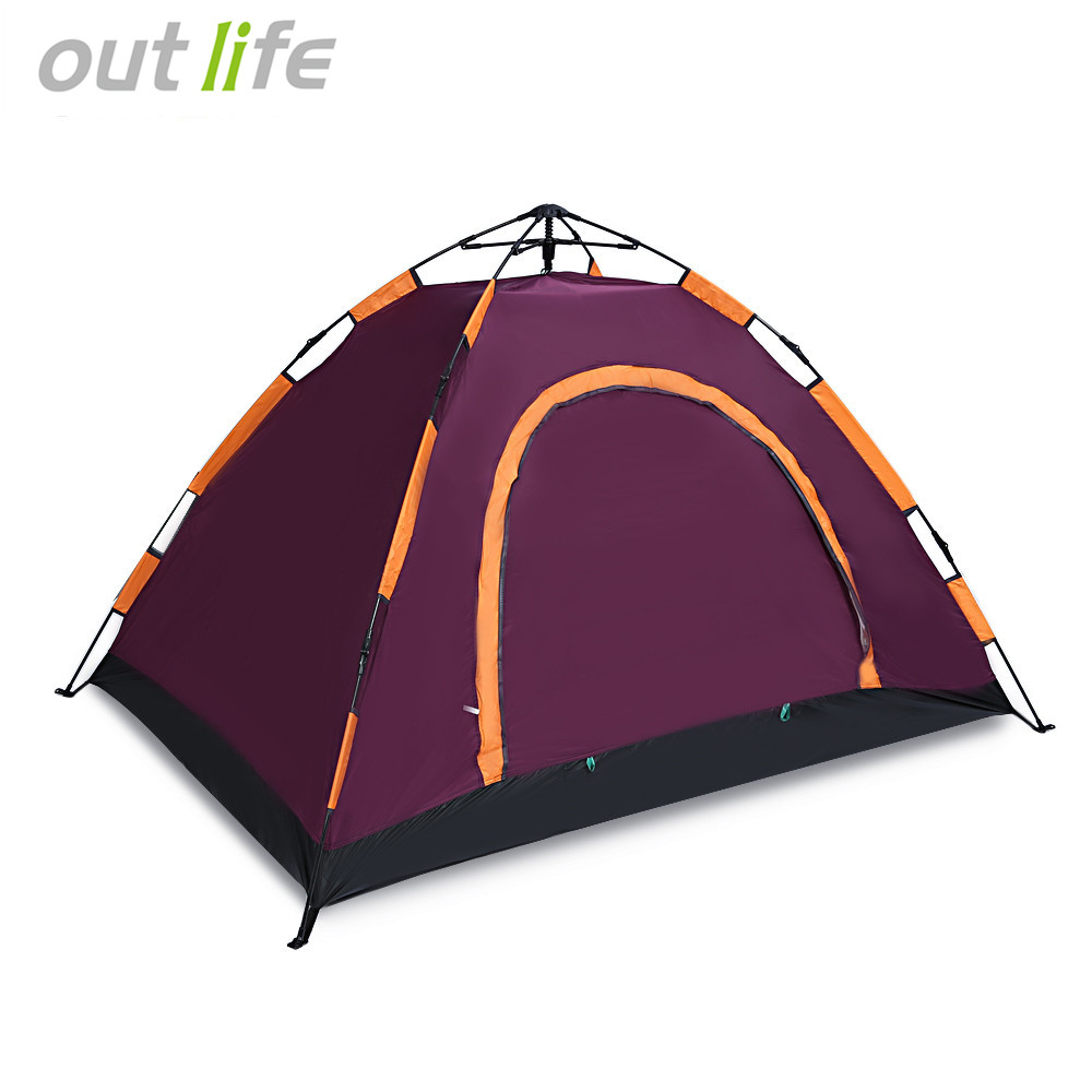 Outdoor 2-3 Persons Camping Pop Up Tent 78*78in Water Resistant Automatic Instant Tent Single Layer for Hiking Climbing Fishing outdoor camping hiking automatic camping tent 4person double layer family tent sun shelter gazebo beach tent awning tourist tent