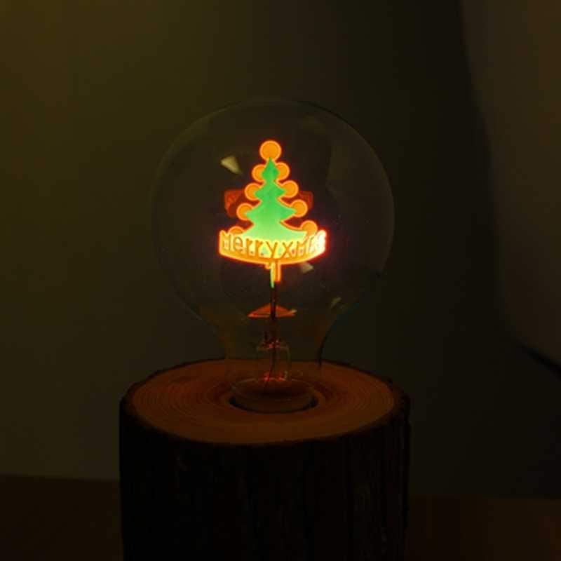 YNL винтажная лампочка Эдисона E27 G80 цветок Праздничные огни Крытый лампы 220 В Глобус лампы накаливания Рождественский Декор для подвесной светильник