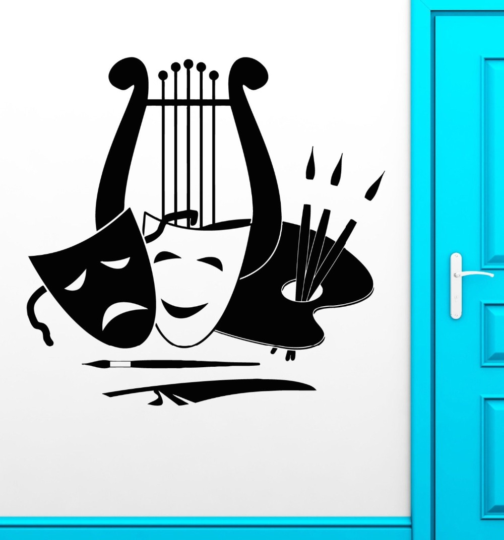 Wall Stickers Vinyl Decal Theatre Arts Music Painting Great Decor