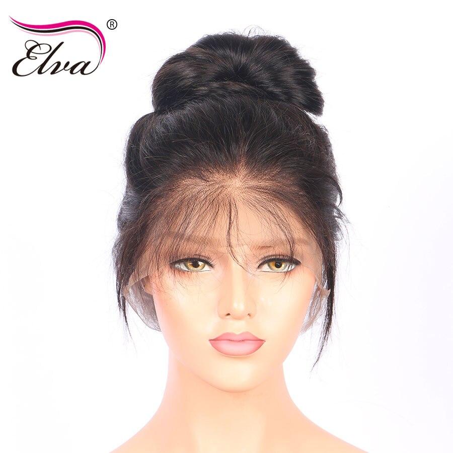 Elva Hair Full Lace Human Hair Wigs For Black Women Glueless Straight Remy Hair Wigs Pre