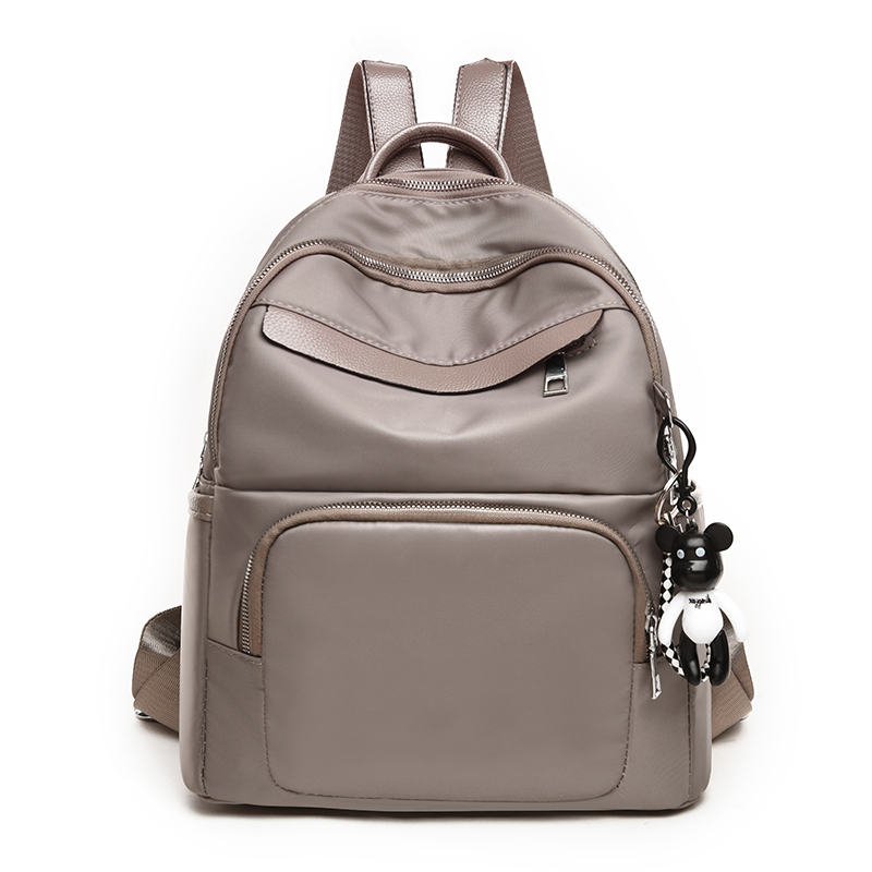 Image 2 - 2018 Fashion Women Backpack for School Teenagers Girls Stylish School Bag Oxford cloth Mini Leather Female Solid Color Bookbag-in Backpacks from Luggage & Bags