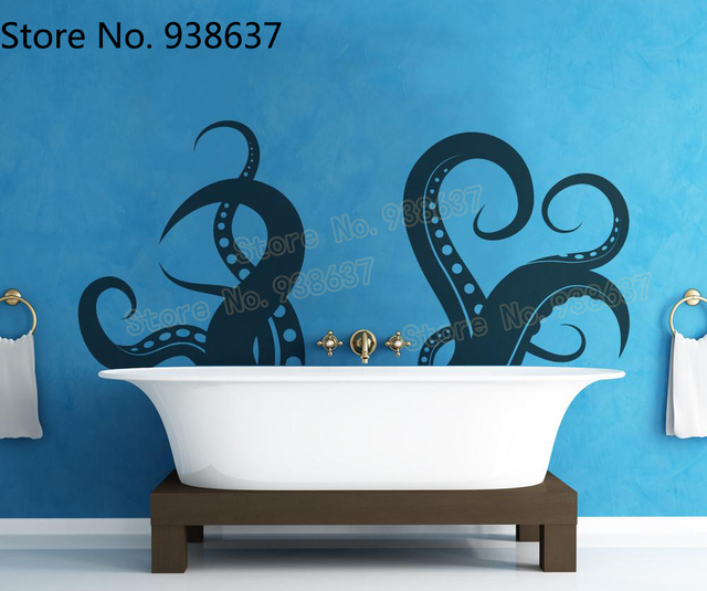 tentacles vinyl wall decal sticker kitchen waterproof animal wall