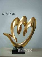 Cheap Modern Resin Crafts / Sculpture abstract sculpture art silver plating / decorations ornaments soft loading