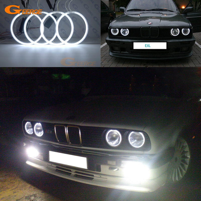 For BMW E30 E32 E34 Excellent angel eyes Ultra bright headlight illumination CCFL Angel Eyes kit Halo Ring