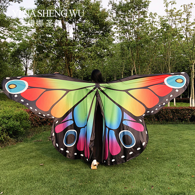 New Belly Dance Butterfly 360 Degree Wings Oriental Dance Wings Colorful Stage Performance Props Belly Dance Wings WITHOUT STICK