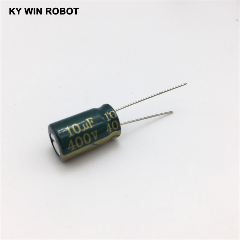10pcs/bag 10 * 17mm <font><b>400V</b></font> / <font><b>10UF</b></font> electrolytic capacitor image