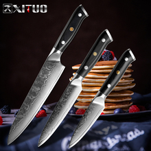 XITUO best 8 inch chef knife Utility Kitchen Knife Japanese VG10 Steel Sharp Blade G10 Handle Damascus Cleaver Slicing tool new