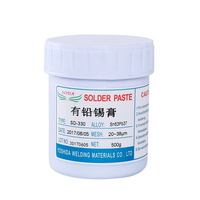 500g No Clean SMT Lead Bearing LED SMT BGA Solder Flux Paste Mobile Phone Chip Repair Electrical Conductivity Is Strong Sn63Pb37