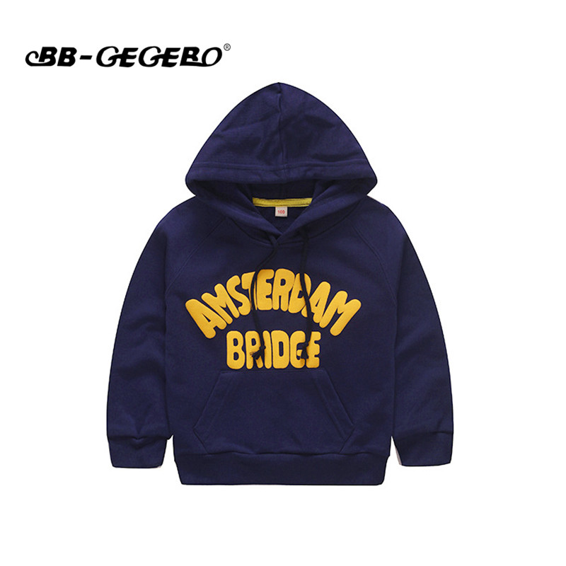 Hot Sale Fashion Kids Children Sweatshirt Long Sleeve Letter Print Pullover Hoodies Cotton Girls Boys Tops Sport Clothes